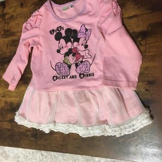 ディズニー(Disney)のミッキー&ミニー フリル付きロンT(Tシャツ/カットソー)