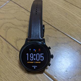 フォッシル(FOSSIL)の【スマートウォッチ】Fossil gen5 ダークブラウン 液晶保護フィルム付き(腕時計(デジタル))