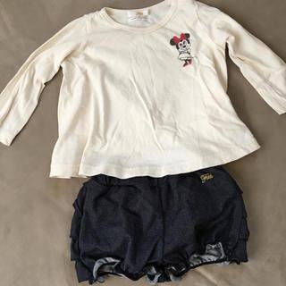 ミニー カットソー&ショートパンツ  70〜80サイズ(シャツ/カットソー)
