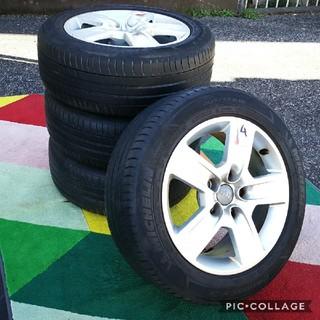 アウディ(AUDI)のアウディA4(8E)純正16インチアルミホイールと タイヤ付き4本セットミシュラ(タイヤ・ホイールセット)