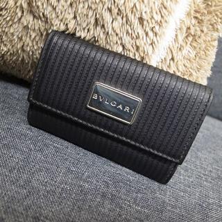 ブルガリ(BVLGARI)の正規品☆ブルガリ ミレリゲ キーケース 黒 バッグ 財布 小物(キーケース)