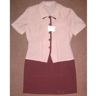 新品 11号 オフィスウエア 事務服 OL制服 F906(シャツ/ブラウス(半袖/袖なし))