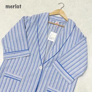 メルロー(merlot)の【merlot】ストライプロングジャケット メルロー(テーラードジャケット)