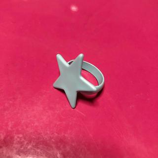 スピンズ(SPINNS)の星 スター リング 指輪 ミントグリーン(リング(指輪))