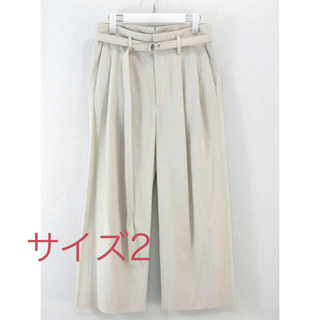 COMOLI - URU Cotton gabardine 2 tuck pants
