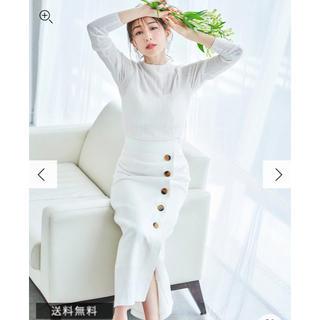 MERCURYDUO - ベルト付ラップ風セミAラインスカート