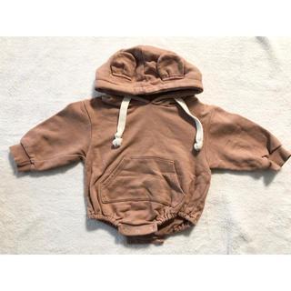 こども ビームス - 韓国子供服 くまみみロンパース パーカーロンパース ブラウン M
