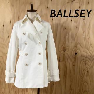 ボールジィ(Ballsey)のBALLSEY イタリア製 コットン スプリング Pコート ホワイト(トレンチコート)