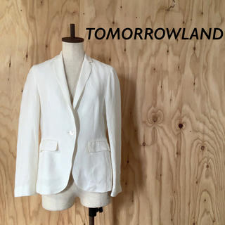TOMORROWLAND - TOMORROWLAND リネン テーラード ジャケット オフホワイト
