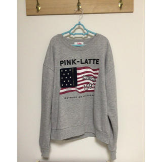 ピンクラテ(PINK-latte)のPINK-latte トレーナー Mサイズ(トレーナー/スウェット)