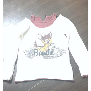 ディズニー(Disney)のディズニー バンビ ロンT キッズ 120cm(Tシャツ/カットソー)