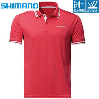 シマノ(SHIMANO)の新品未使用 SHIMANO シマノ ポロシャツ  ロッソ XXLサイズ (ウエア)