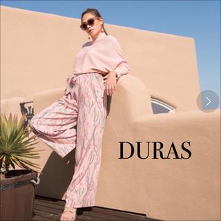 デュラス(DURAS)のDURAS サボテン柄 ワイドパンツ♡ロイヤルパーティー リゼクシー リエンダ(カジュアルパンツ)