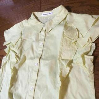 ストロベリーフィールズ(STRAWBERRY-FIELDS)のSTRAWBERRY-FIELDS フリルトップス M ブラウス シャツ(シャツ/ブラウス(半袖/袖なし))