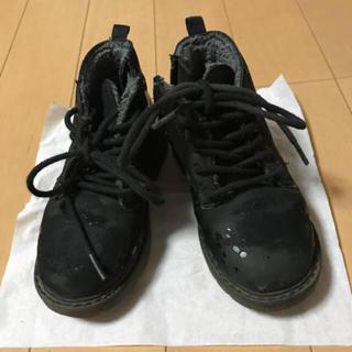 ザラ(ZARA)のZARA BABY ムートン風ブーツ 22 ブラック ハイカット(ブーツ)