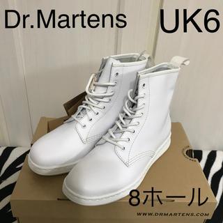 ドクターマーチン(Dr.Martens)の新品 ドクターマーチン レザーホワイト 8ホール UK6(ブーツ)