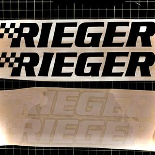 RIEGER リーガ ドイツ カスタム ステッカー 白黒 各色 2枚セット(ステッカー)