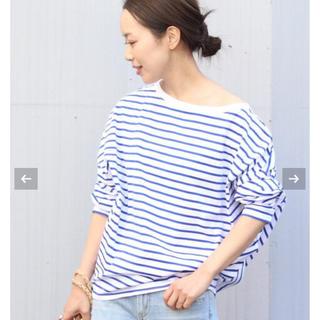 プラージュ(Plage)の新品タグ付 プラージュ R'IAM FEMININE ボーダーTシャツ(Tシャツ(長袖/七分))