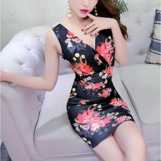ジュエルズ(JEWELS)の花柄デザインワンピース キャバ ドレス(ナイトドレス)