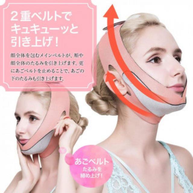 不織布 マスク 人気 100枚 - 145 橙色 ほうれい線 美顔 顔痩せの通販