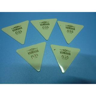 YAMAHA 正三角形ピック 5枚セット  厚さ:035 (長期在庫品) 白(その他)