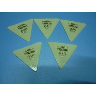 YAMAHA 正三角形ピック 5枚セット  厚さ:040 (長期在庫品) 白(その他)