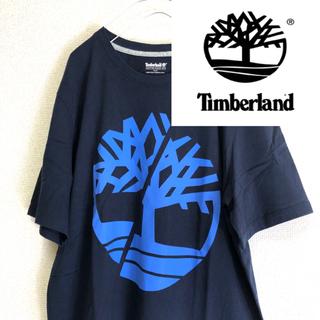 ティンバーランド(Timberland)のTimberland ティンバーランド ビッグロゴ ネイビー Tシャツ 美品(Tシャツ/カットソー(半袖/袖なし))