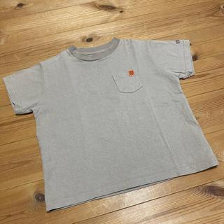 フリークスストア(FREAK'S STORE)のユニバーサルオーバーオール ヘビーウェイト Tシャツ ベージュ 110(Tシャツ/カットソー)