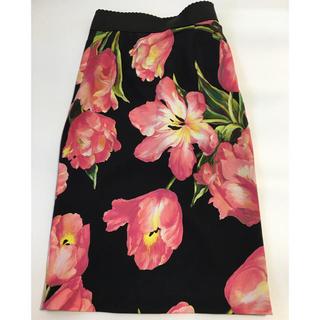 ドルチェアンドガッバーナ(DOLCE&GABBANA)のDOLCE&GABBANA シルク混 花柄 スカート(ロングスカート)
