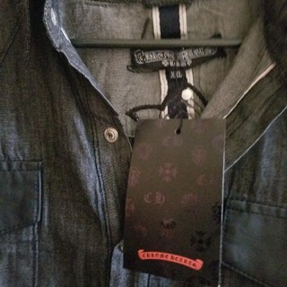 クロムハーツ(Chrome Hearts)のクロムハーツLA版デニムクロスシャツ最終値下げです、しん吉様専用(Gジャン/デニムジャケット)