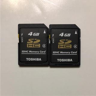 トウシバ(東芝)の東芝 TOSHIBA SDカード 4GB 2枚(コンパクトデジタルカメラ)