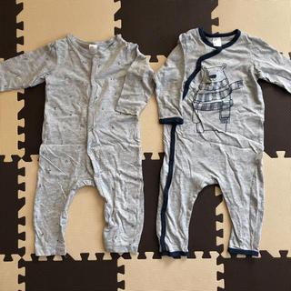 エイチアンドエム(H&M)のH&M エイチアンドエム ロンパース 2枚セット 80(ロンパース)