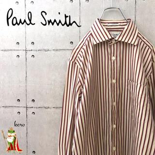 ポールスミス(Paul Smith)の【激レア】日本製 ポールスミス ストライプ 花柄 イタリア生地 シャツ(シャツ)