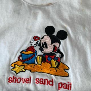 ミッキーマウス(ミッキーマウス)のディズニーストア ミッキーマウス刺繍Tシャツ(Tシャツ/カットソー)