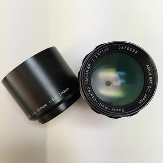 ペンタックス(PENTAX)の美品 PENTAX M42 SMC TAKUMAR 135mm F3.5 フード(レンズ(単焦点))