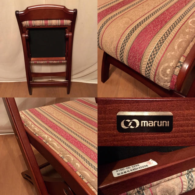 """【maruni】""""地中海"""" ツーロン フォールディングチェアNo.1 インテリア/住まい/日用品の椅子/チェア(折り畳みイス)の商品写真"""