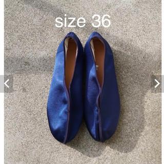 ユナイテッドアローズ(UNITED ARROWS)の新品 pelleq china shoes ペレック チャイナシューズ sky(バレエシューズ)
