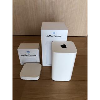 マック(MAC)の■USED 「AirMac Extreme & Express」 1組セット(PC周辺機器)