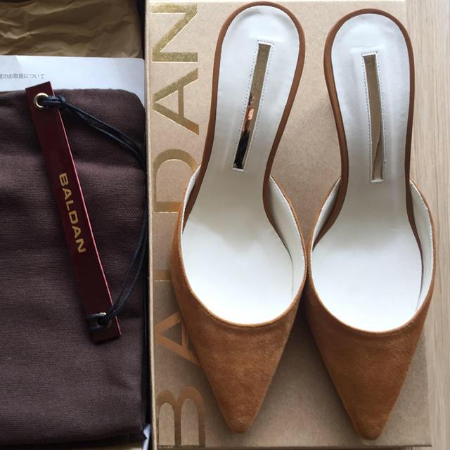 DEUXIEME CLASSE(ドゥーズィエムクラス)の【BALDAN 】ポインテッドミュール サンダル  未使用品 レディースの靴/シューズ(ミュール)の商品写真