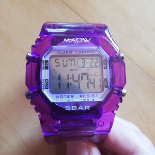 MAOW 5BAR パープル 腕時計(腕時計(デジタル))