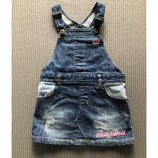 BABYDOLL - BABY DOLL デニムジャンバースカート 110センチ