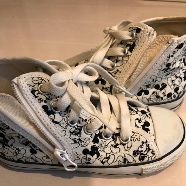 CONVERSE(コンバース)のコンバース ALL STAR 子供用 スニーカー ミッキーマウス キッズ/ベビー/マタニティのキッズ靴/シューズ(15cm~)(スニーカー)の商品写真