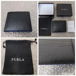 フルラ(Furla)のフルラ FURLA MAN メンズ  二つ折り財布 小銭入れ付き 黒 ブラック(折り財布)