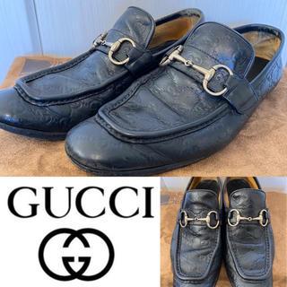 グッチ(Gucci)の☆GUCCI グッチ モノグラム ビット ローファー(ドレス/ビジネス)