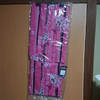 新品 浴衣 着物 ゆかた ピンク 花柄 センス 桜 扇子 さくら 花 せんす(浴衣)