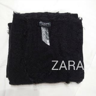 ザラ(ZARA)のZARAザラふんわりストールマフラー黒(マフラー/ショール)