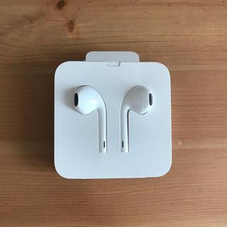 アップル(Apple)の【未使用】iPhone 純正イヤホン(ヘッドフォン/イヤフォン)