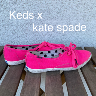 ケイトスペードニューヨーク(kate spade new york)のKeds X kate spade ピンク スニーカー サイズ36(スニーカー)