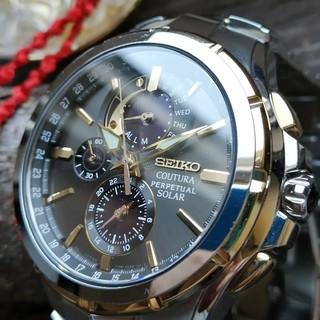 セイコー(SEIKO)の【超美品!】海外セイコーSSC376 ゴールド&シルバー コーチュラ腕時計 /ク(腕時計(アナログ))