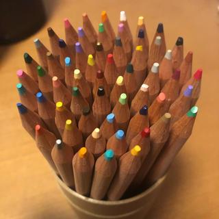 ムジルシリョウヒン(MUJI (無印良品))の【無印良品】ケース付き色鉛筆 60色セット(色鉛筆)
